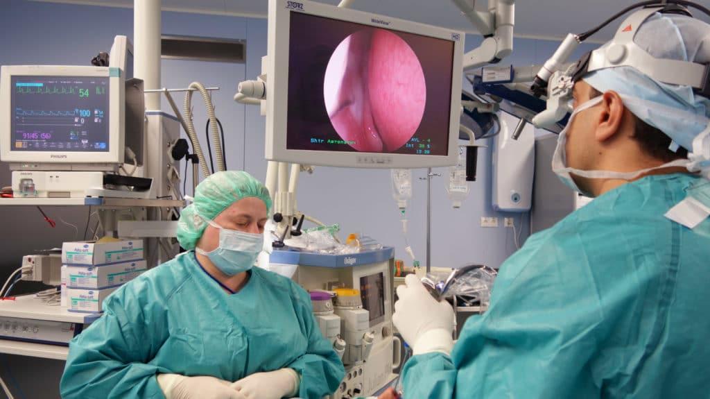 Операция по удалению гематомы носовой перегородки