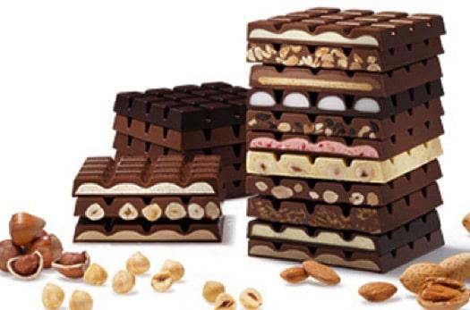 шоколад разных сортов