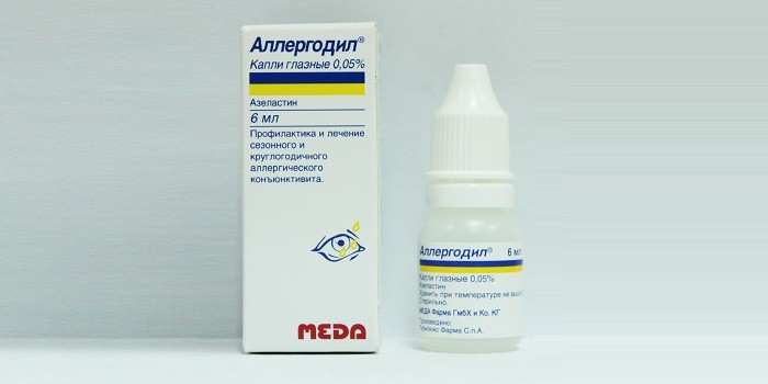 Капли аллергодил используются при аллергическом коньюктивите