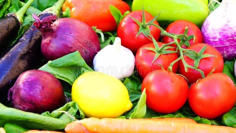 цитрусовые и овощи