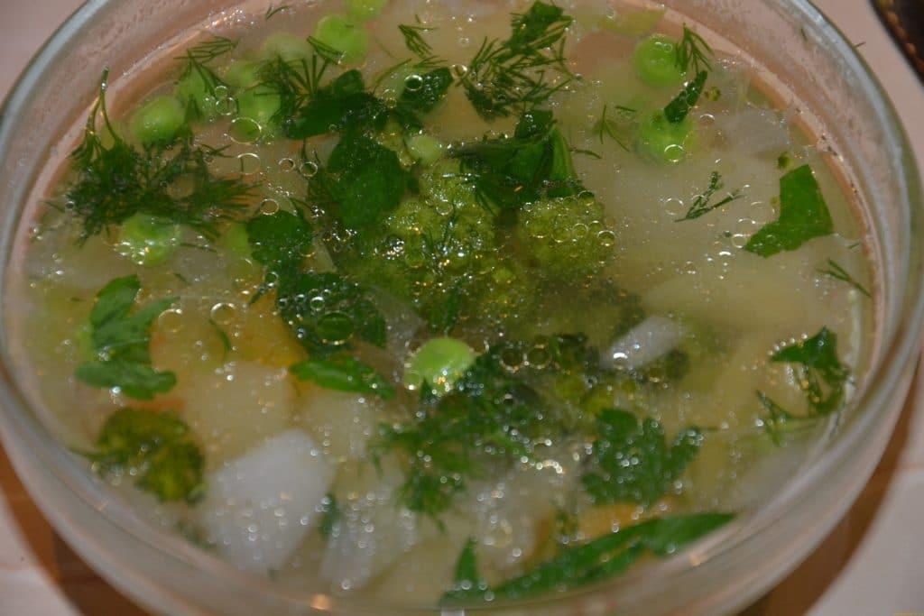Расширенная послеоперационная диета допускает присутствие нежирных легких супов