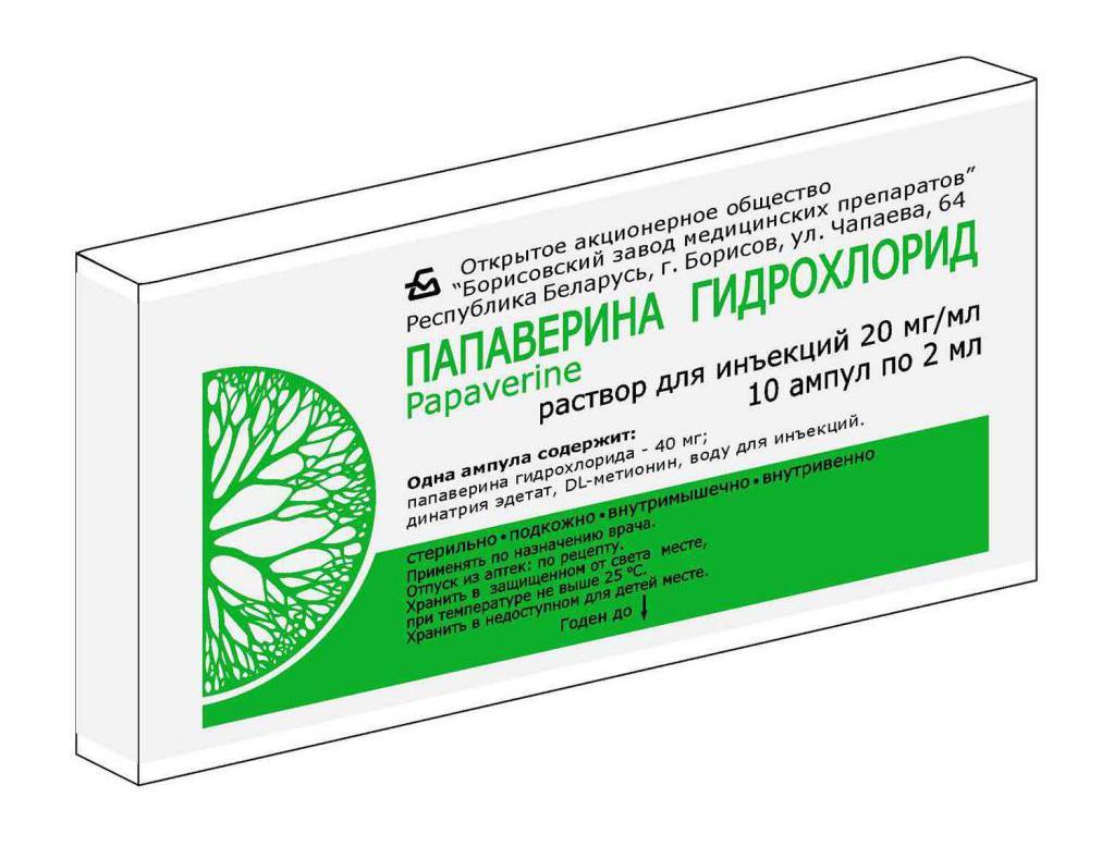 раствор папаверин