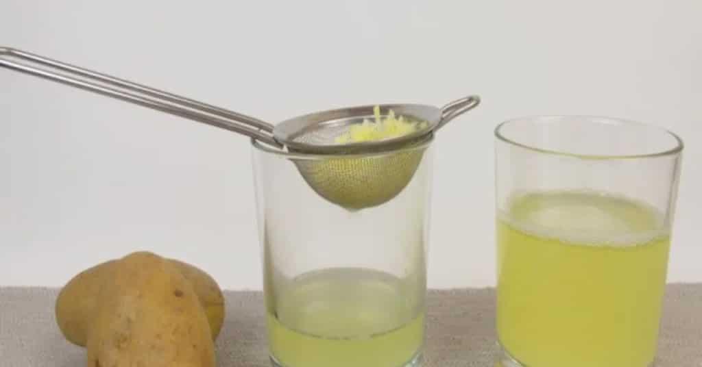 Приготовление сока из картофеля